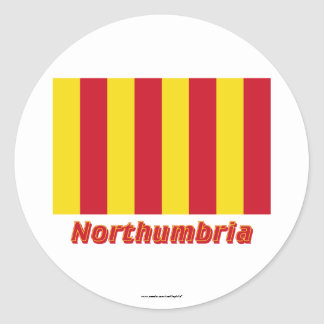 Northumbria Flag with Name Stickers