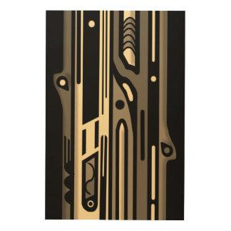NORTHWEST AR DECO MONO by Slipperywindow Wood Print