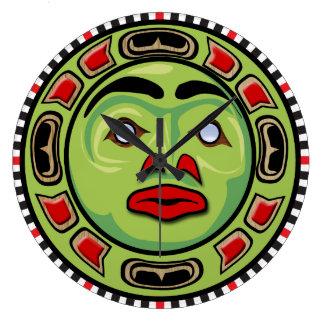 Northwest Coast Native American Mask Clock Design