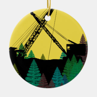 Northwest Crane and Shovel OPERATING ENGINEER art Christmas Ornament
