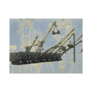 Northwest Crane and Shovel w/ Mechanical Drawing Canvas Print