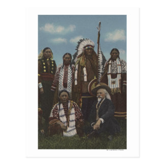 Northwest Indians - Buffalo Bill, Sitting Bull Postcard
