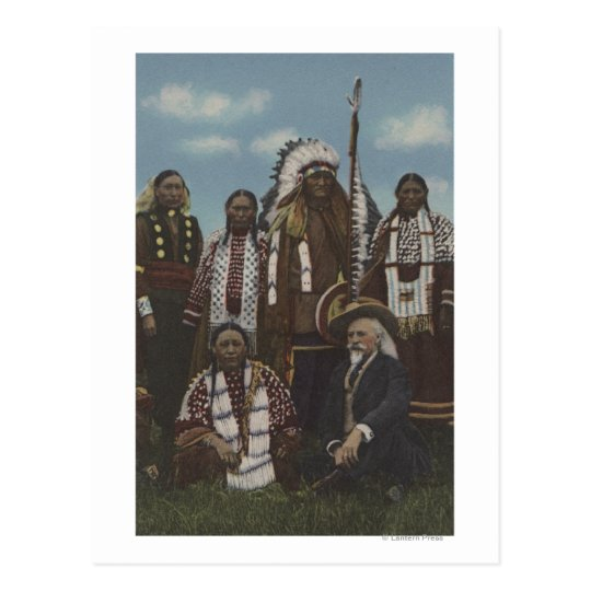 Northwest Indians - Buffalo Bill, Sitting Bull Postcard