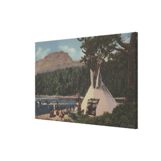 Northwest Indians - The Land of Sky Blue Canvas Print