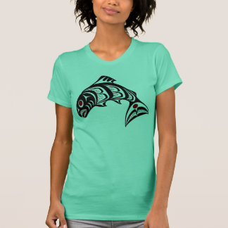Northwest Pacific coast Haida art Salmon T-Shirt