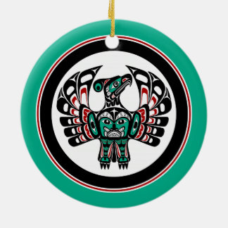 Northwest Pacific coast Haida art Thunderbird Christmas Ornament