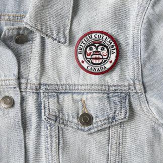 Northwest Pacific coast Haida Weeping skull 6 Cm Round Badge