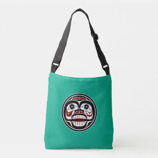 Northwest Pacific coast Haida Weeping skull Crossbody Bag