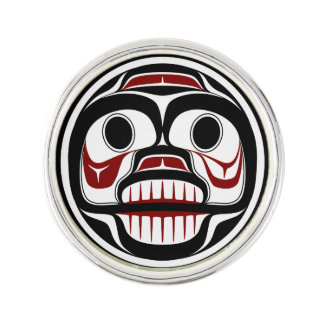 Northwest Pacific coast Haida Weeping skull Lapel Pin