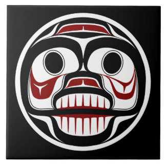 Northwest Pacific coast Haida Weeping skull Tile