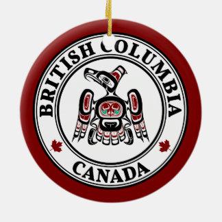Northwest Pacific coast Kaigani Thunderbird BC Christmas Ornament
