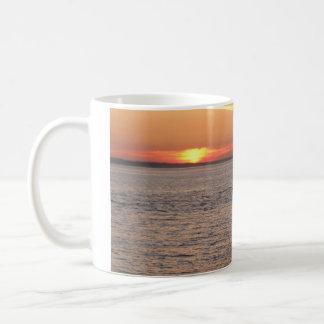 Northwest Sunset - Power Boat Basic White Mug