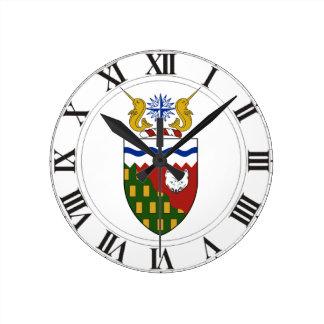 Northwest Territories (Canada) Coat of Arms Clocks