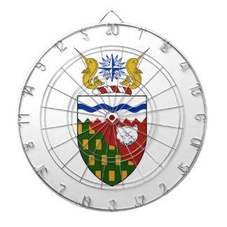 Northwest Territories (Canada) Coat of Arms Dart Boards
