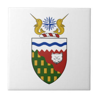 Northwest Territories (Canada) Coat of Arms Small Square Tile