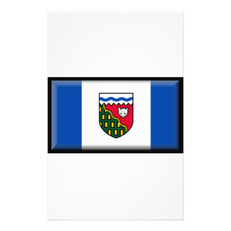 Northwest Territories (Canada) Flag Stationery Design