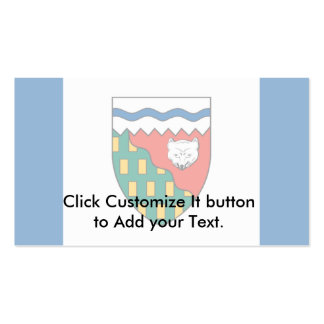 Northwest Territories flag Business Card
