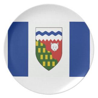 Northwest Territories Flag Dinner Plates