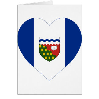 Northwest Territories Flag Heart Greeting Card
