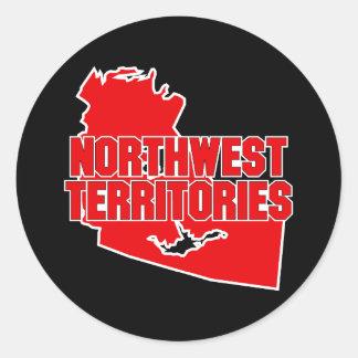 Northwest Territories Round Sticker
