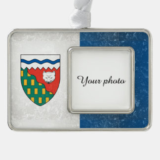 Northwest Territories Silver Plated Framed Ornament