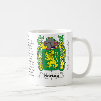 Norton Family Coat of Arms mug