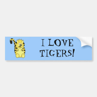 Norty Tiger Bumper Sticker