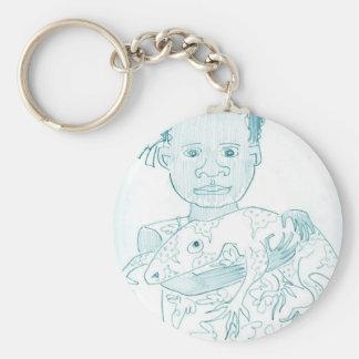 Norupa's Lizard Basic Round Button Key Ring