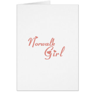 Norwalk Girl tee shirts Card