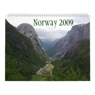Norway 2009 wall calendar