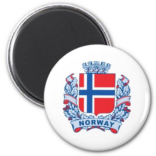 Norway 6 Cm Round Magnet