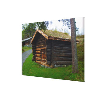 Norway, Agricultural hut in the high pastures Canvas Print