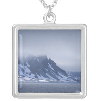 Norway, Arctic Circle, North Atlantic Ocean. Silver Plated Necklace