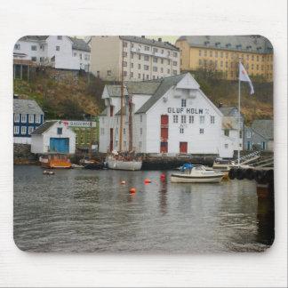Norway, Bergen,marina and boatyard Mouse Mat