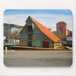 Norway, Bergen, sloping roof, warehouse Mouse Mat
