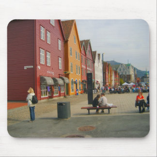 Norway, Bergen, traditional houses, waterfrontt Mouse Mat