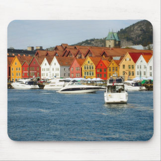 Norway, Bergen,Waterfront with marina Mouse Mat