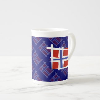 Norway Brush Flag Bone China Mug