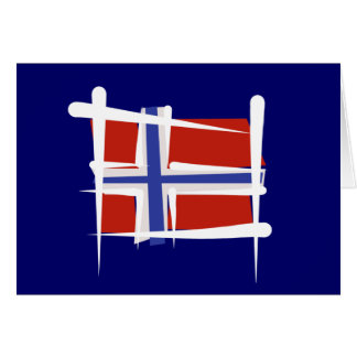 Norway Brush Flag Card