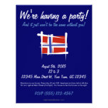 Norway Brush Flag Invite