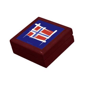 Norway Brush Flag Small Square Gift Box