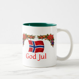 Norway Christmas Two-Tone Coffee Mug