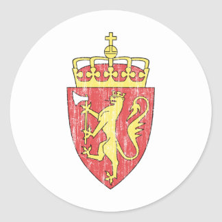 Norway Coat Of Arms Round Sticker