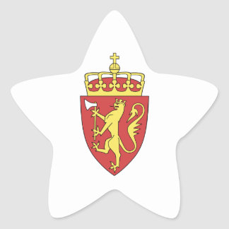 Norway Coat of Arms Star Sticker