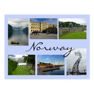 Norway Collage Postcard