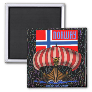Norway cool viking ship magnet design