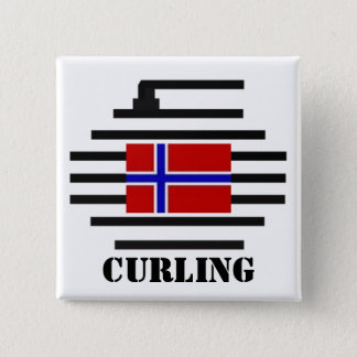 Norway Curling 15 Cm Square Badge