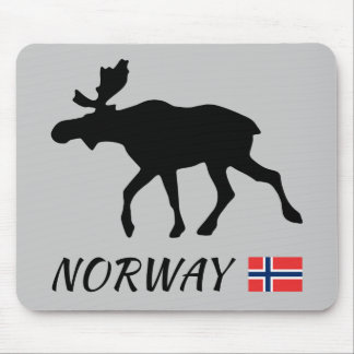 Norway Elk and flag Mouse Mat