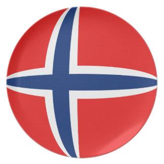 Norway Fisheye Flag Plate