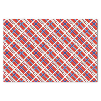 Norway Flag and Word Snow Tissue Paper